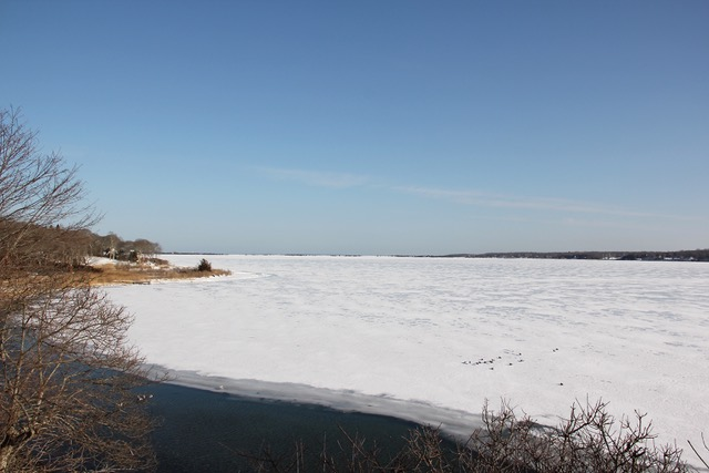 Frozen Three Mile Harbor - January, 2018