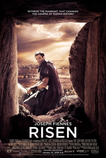 Join us for our Easter film Screening - as we watch Risen, a fictionalised account of a Roman soldier charged with guarding the tomb of Christ and his journey in search of what happened to the body after the discovery of the empty tomb.