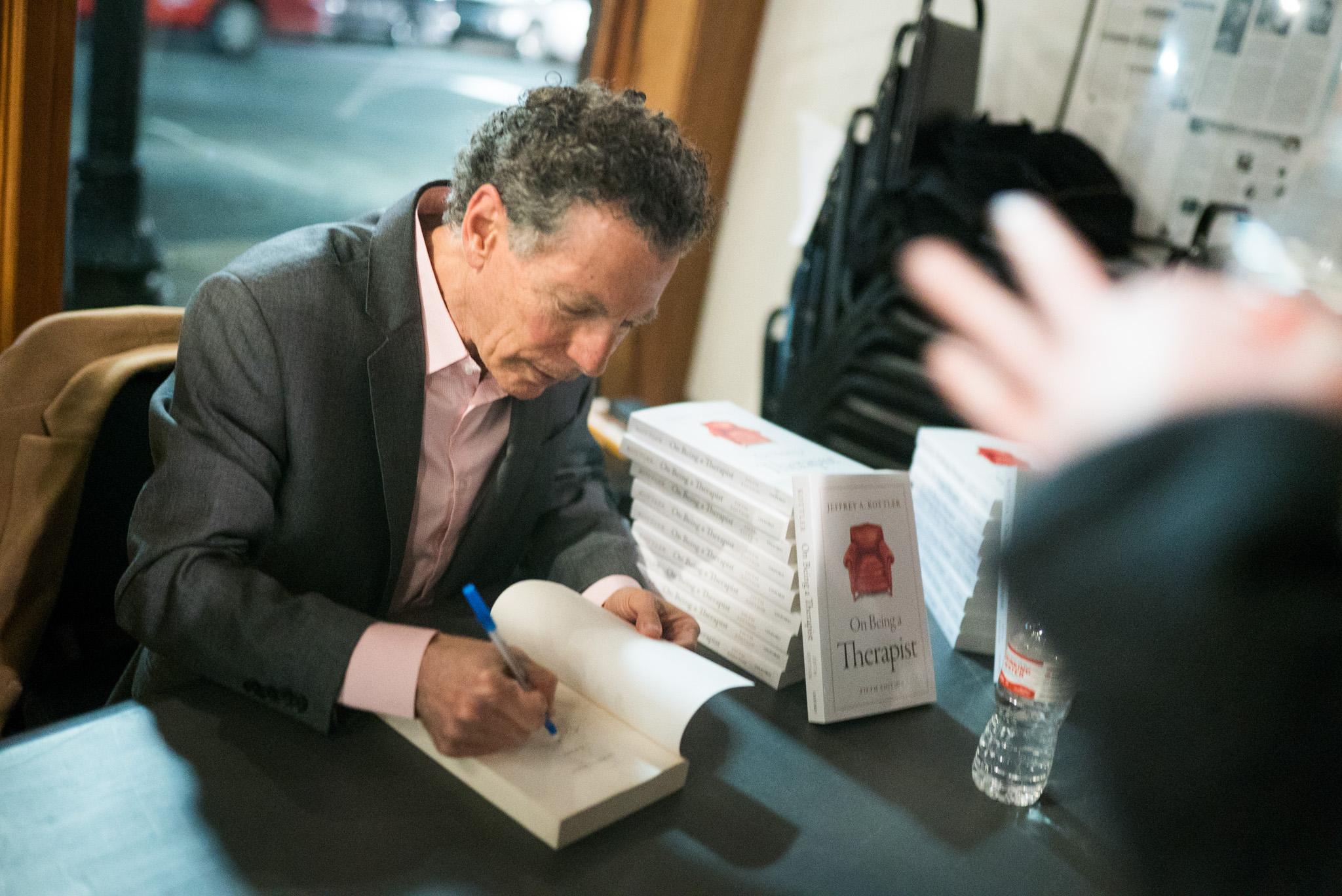 Jeffrey Kottler book signing