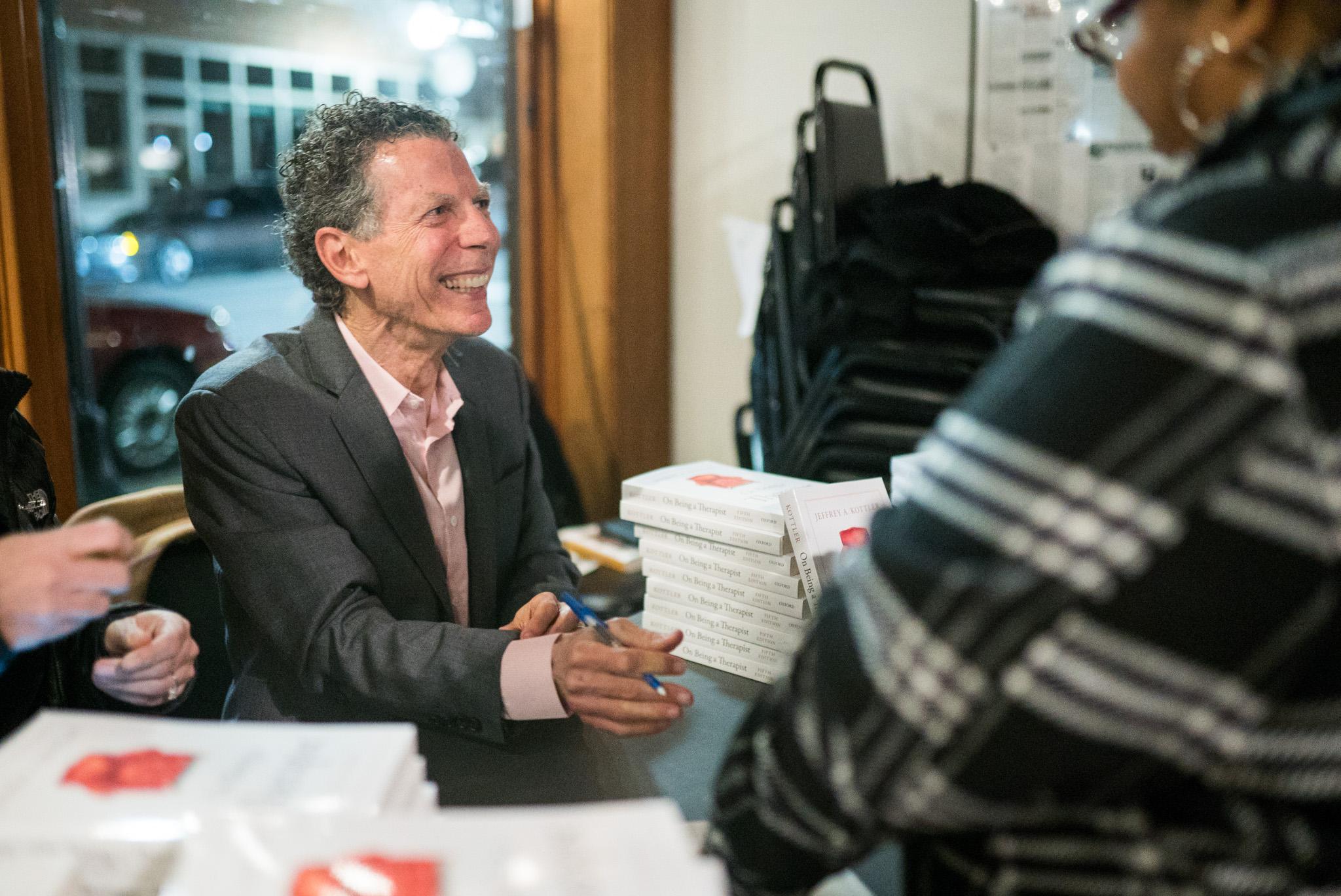 jeffrey kottler signing books