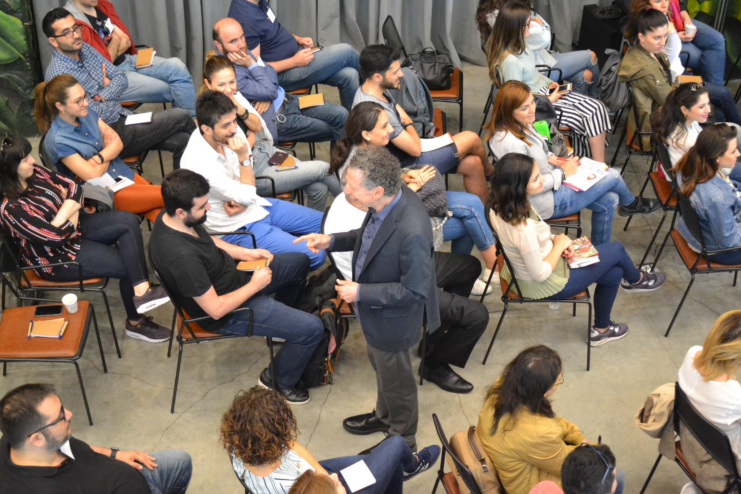 Jeffrey Kottler speaking in Turkey, author