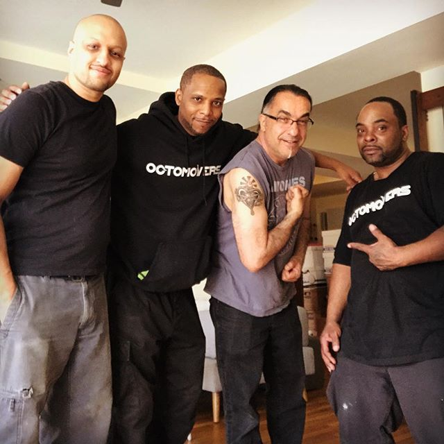 Solid movers for an even more solid client. Thanks @piersantistudios for entrusting us with your big move! 🙌🏽 #moverswithgrip #octomovers #movingday #nyc #newyork #bestmoveever #cooltattoo