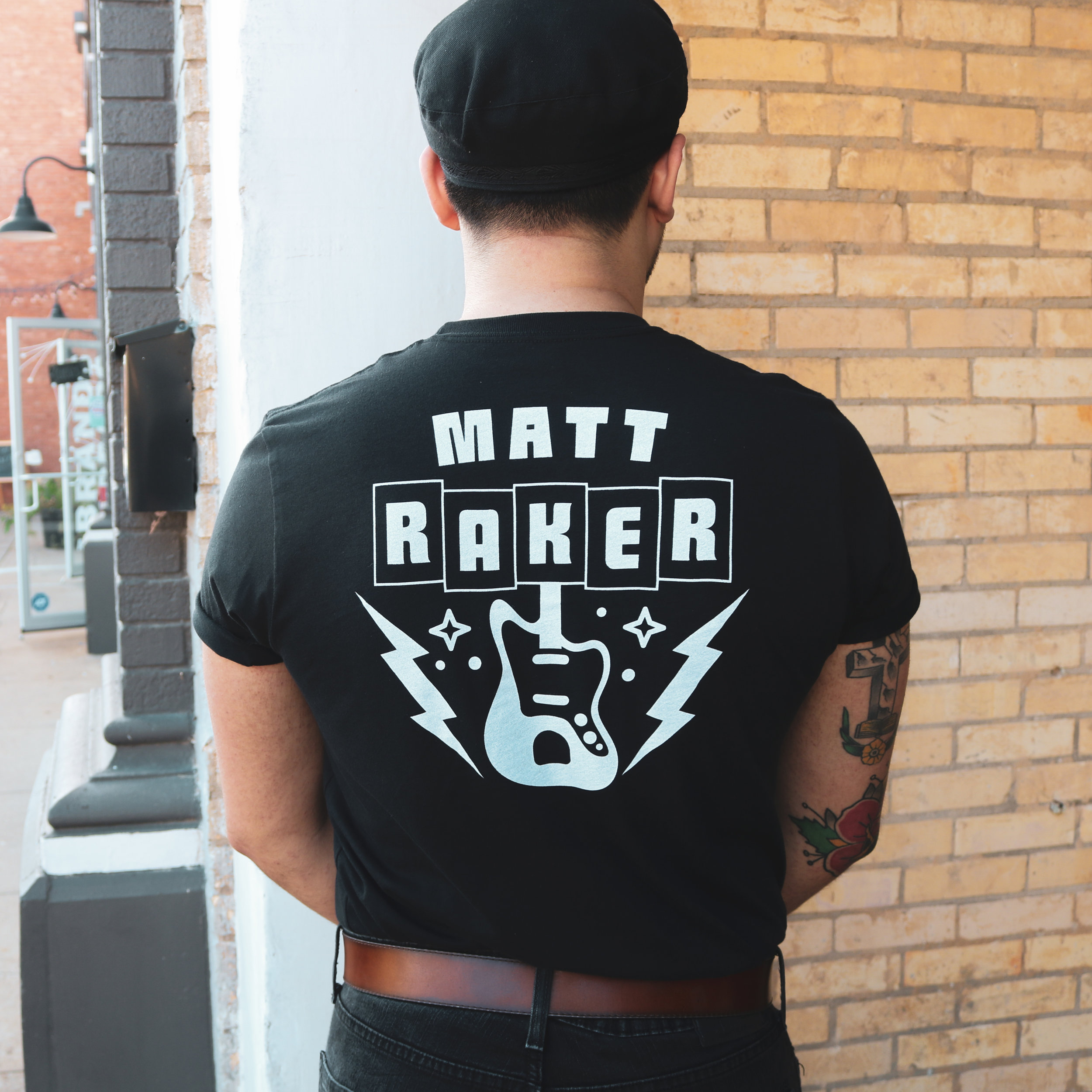 Band Merch for East Texas musician Matt Raker