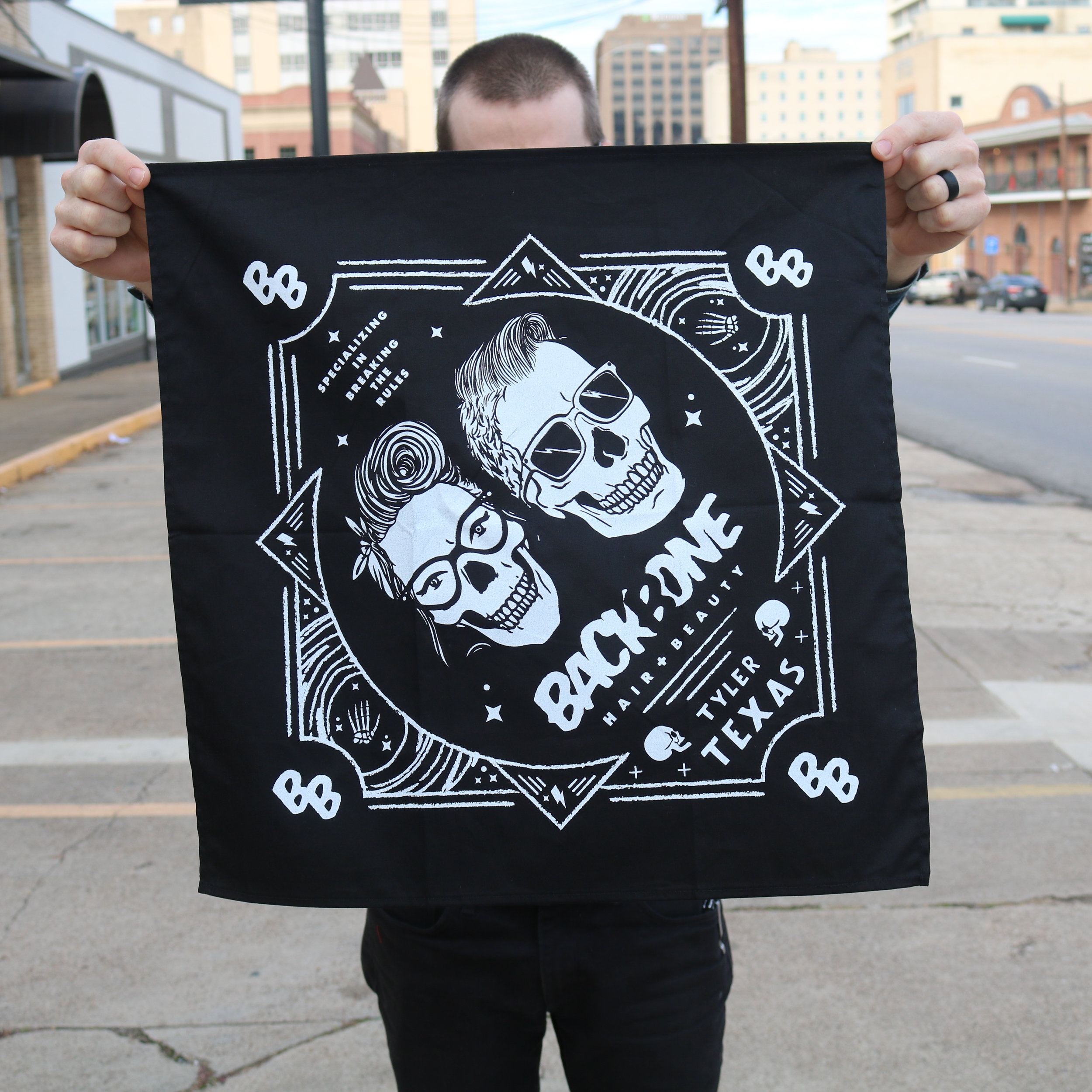 Screen Printed Bandanas for Salon Tyler, Tx