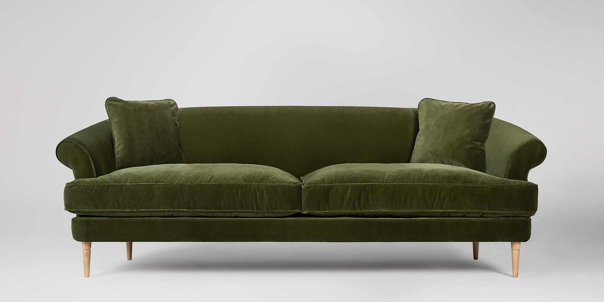 Rennes Sofa £1,299 Fern Velvet