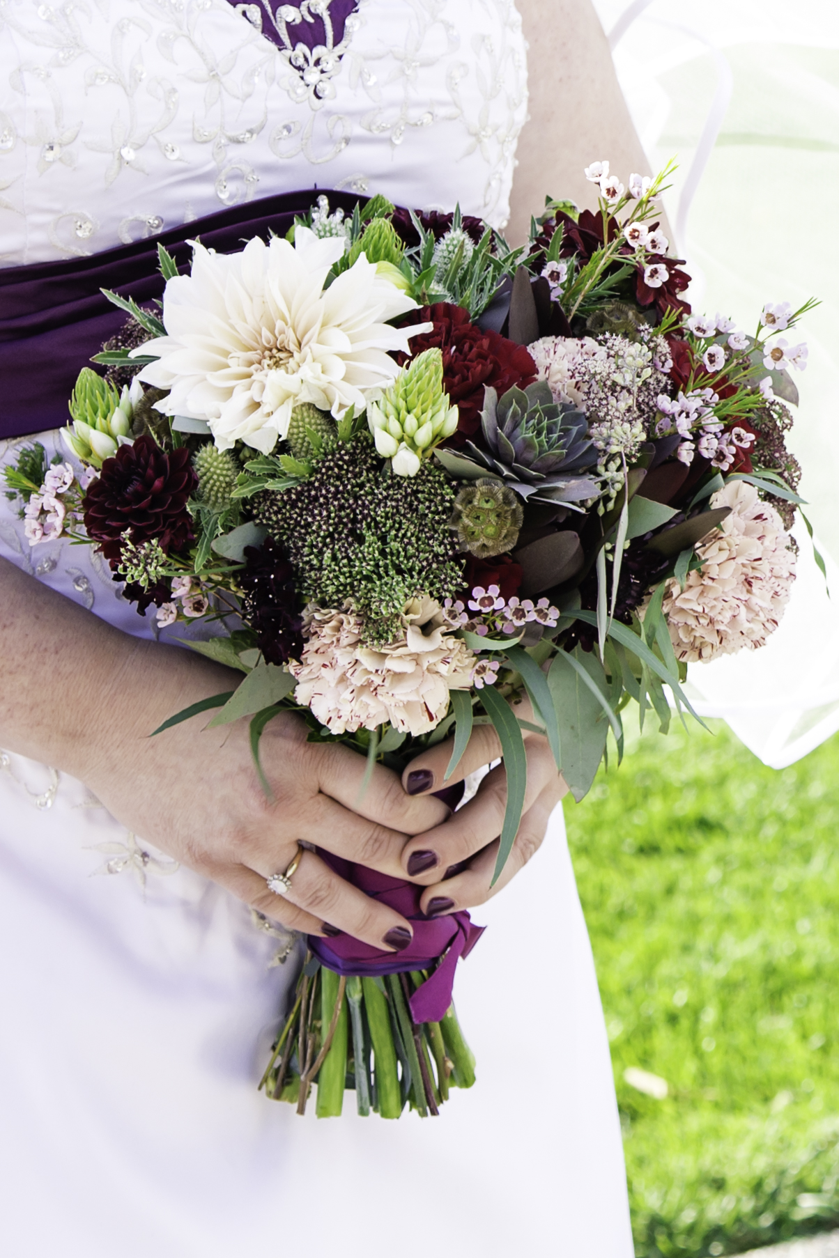 Bridal bouquet filled with home grown and BC sourced flowers
