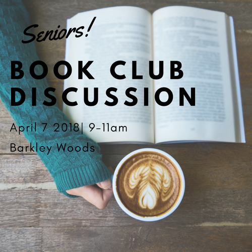 Seniors Book Club  April 7  9-11am | Barkley Woods