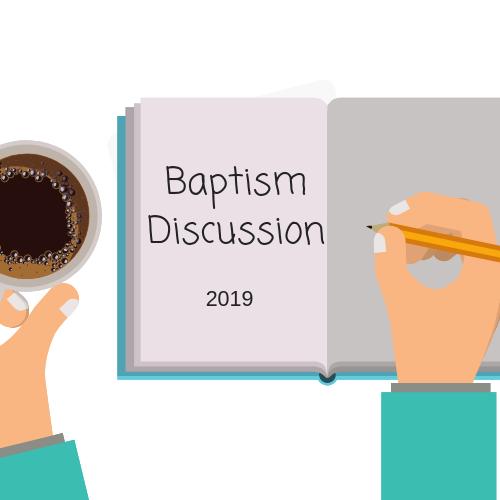Baptism Discussion  Monday Nov. 26   The VU   4:00pm