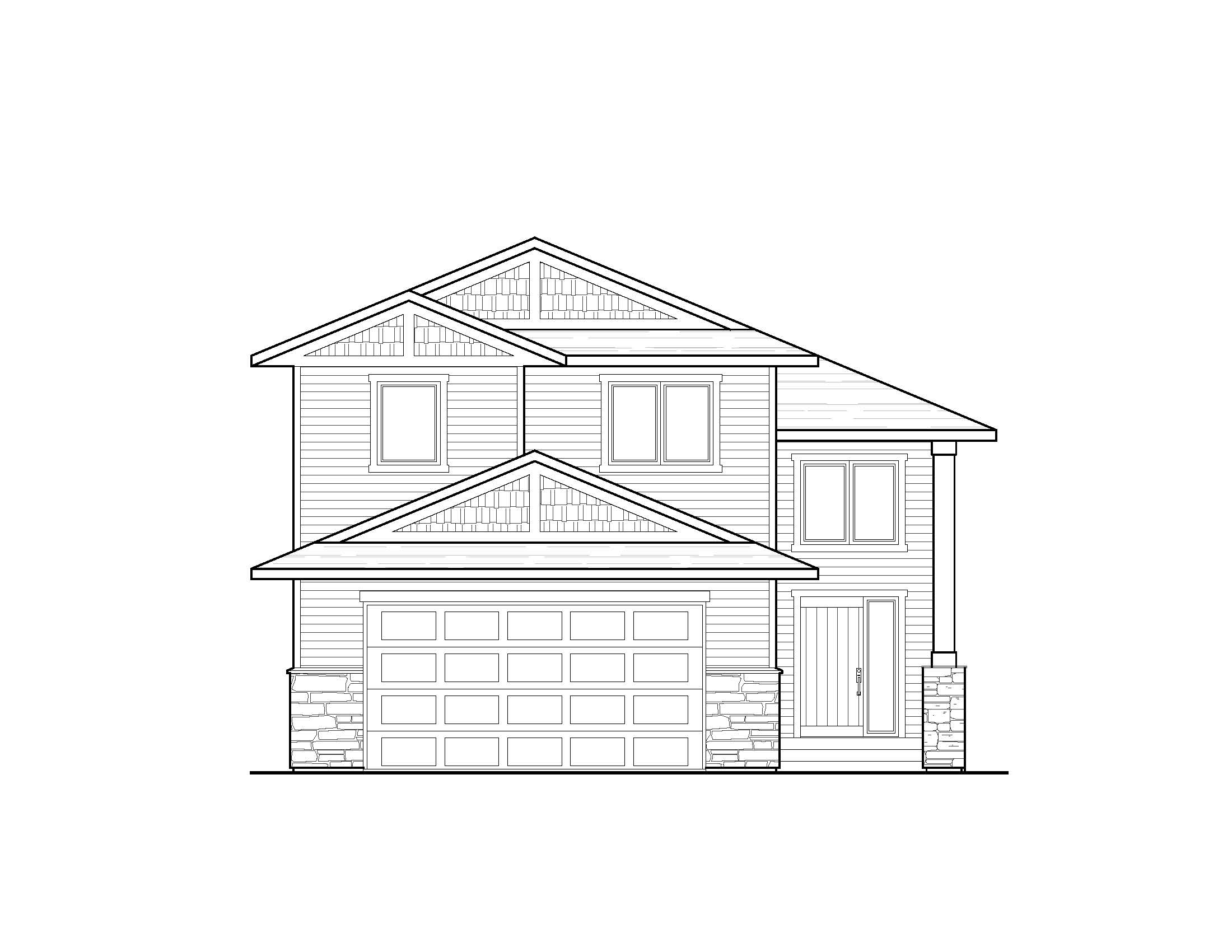 Traditional Front Elevation