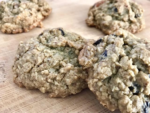 Cherry Almond Cookies - vegan , low sugar and gluten free