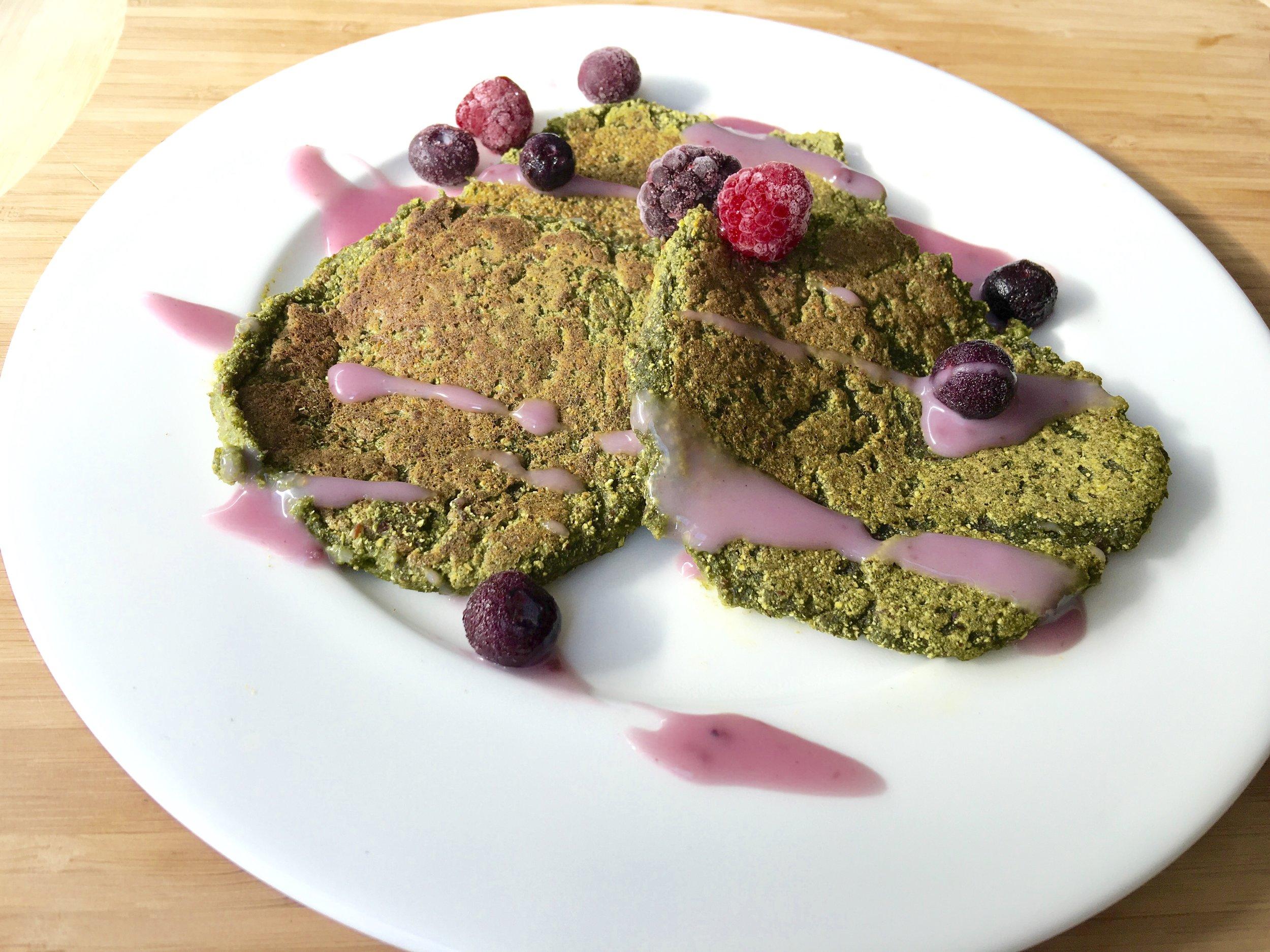 Amazing Pancakes- gluten free, vegan, flourless, fast superfood