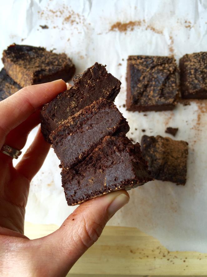 cacao brownies - by Kristine Thomas of Welli - gluten free, grain free, vegan, paleo