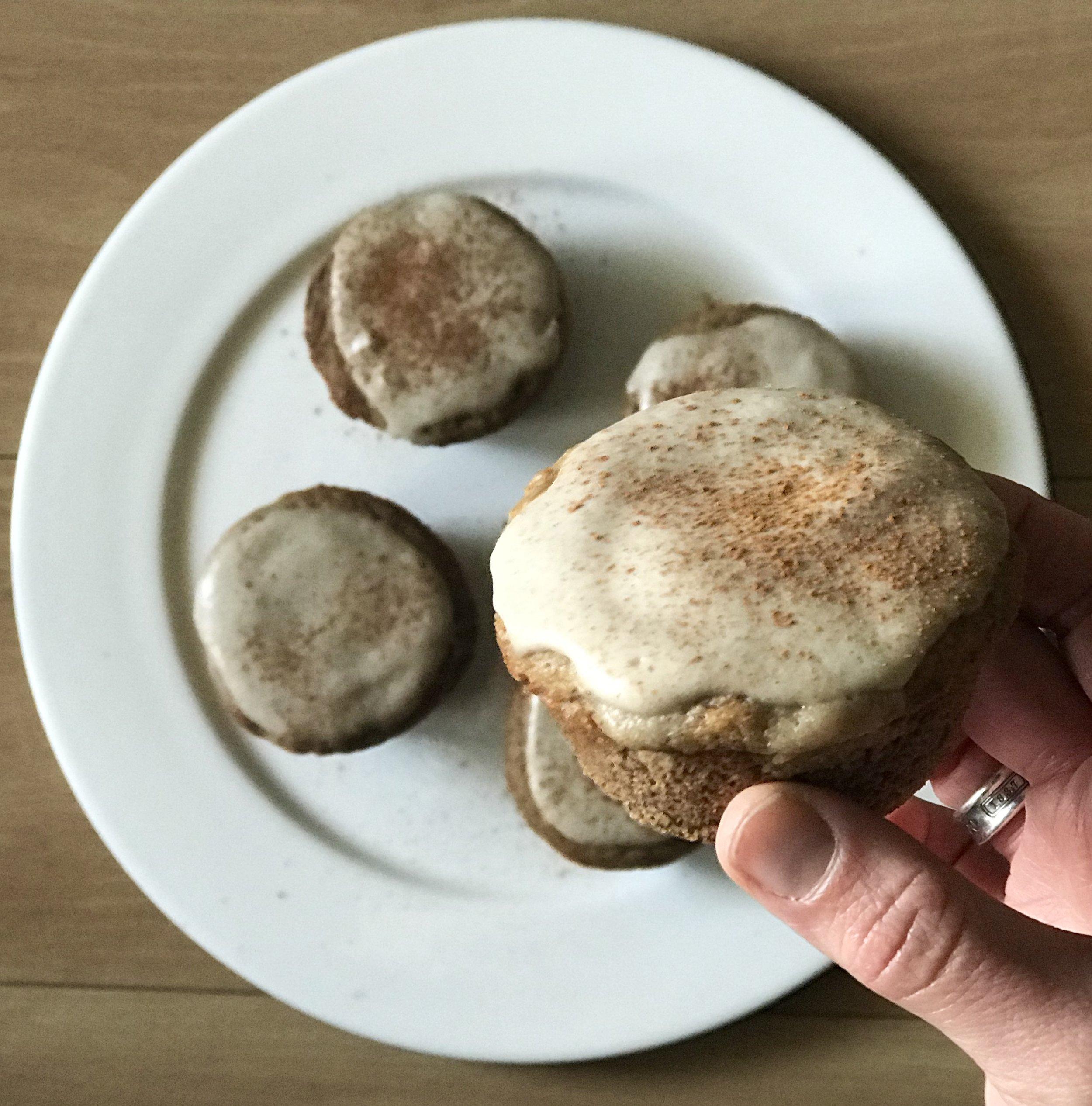 Cinnamon Roll muffins - www.JoyfulGoodness.com - #vegan #paleo #grainfree #breakfast #beJoyful #cinnamonrolls