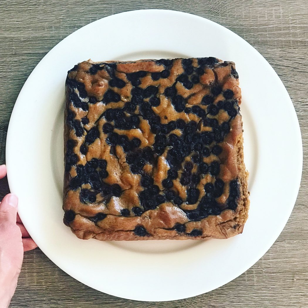 Peanut Butter and Blueberry Blondies - Joyful Goodness - #Vegan #GlutenFree #paleo  #recipe #beJoyful #peanutbutter