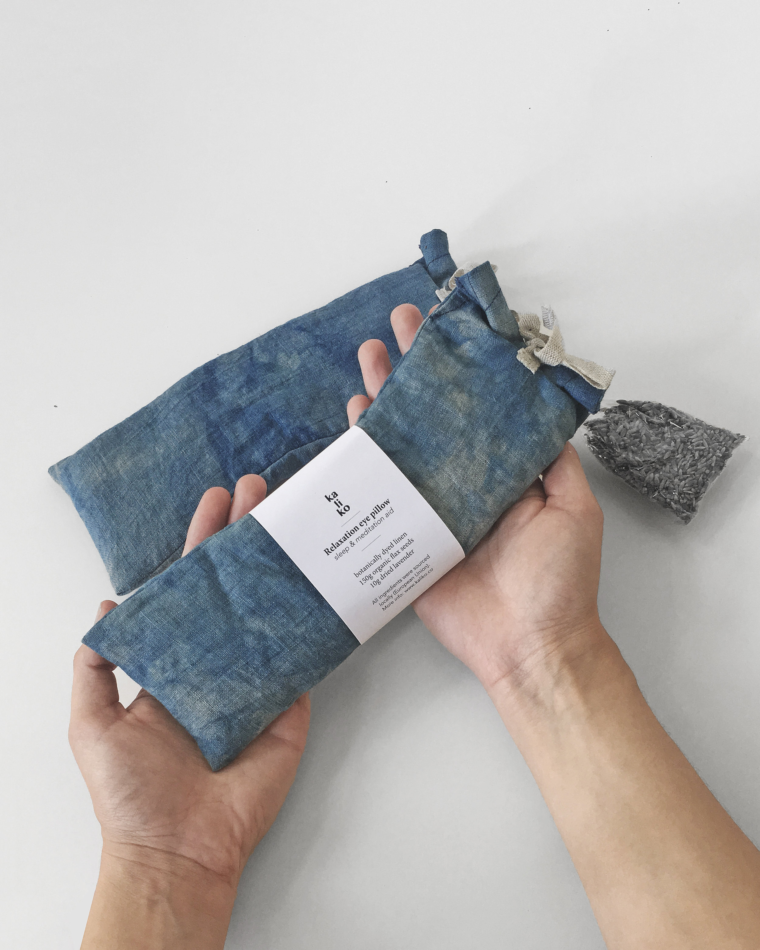 Meditation lavender and flax eye pillows