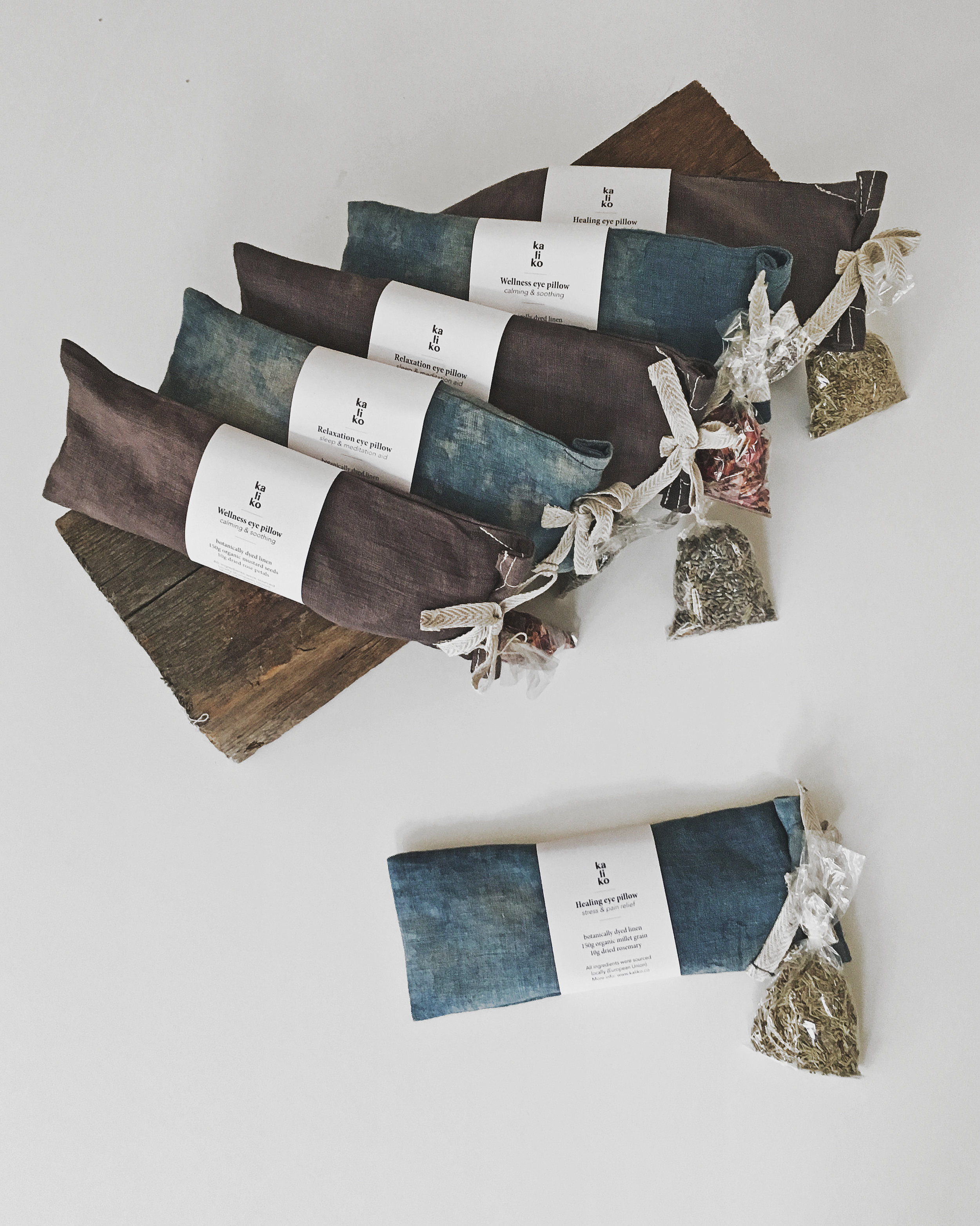 Linen eye pillows - new line of spa gifts