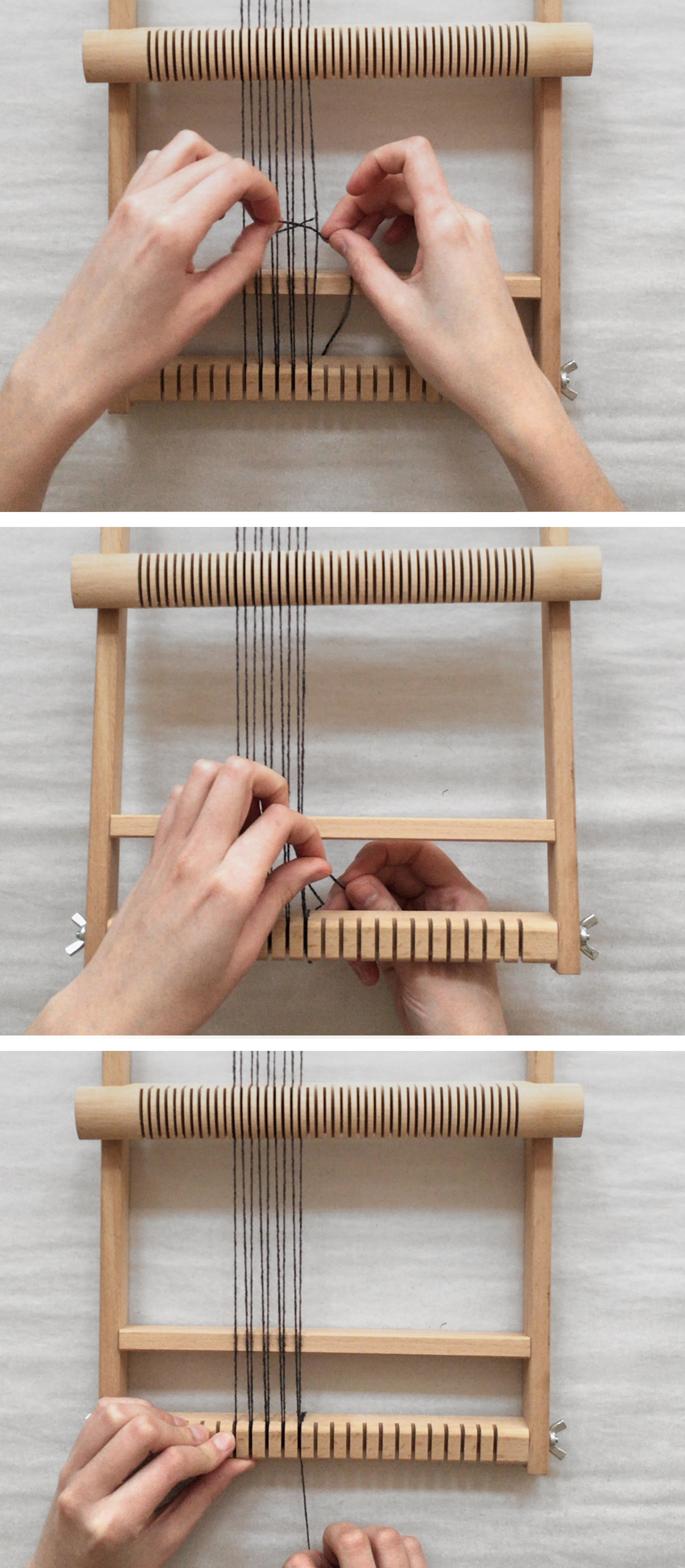 HOW TO WARP A FRAME LOOM