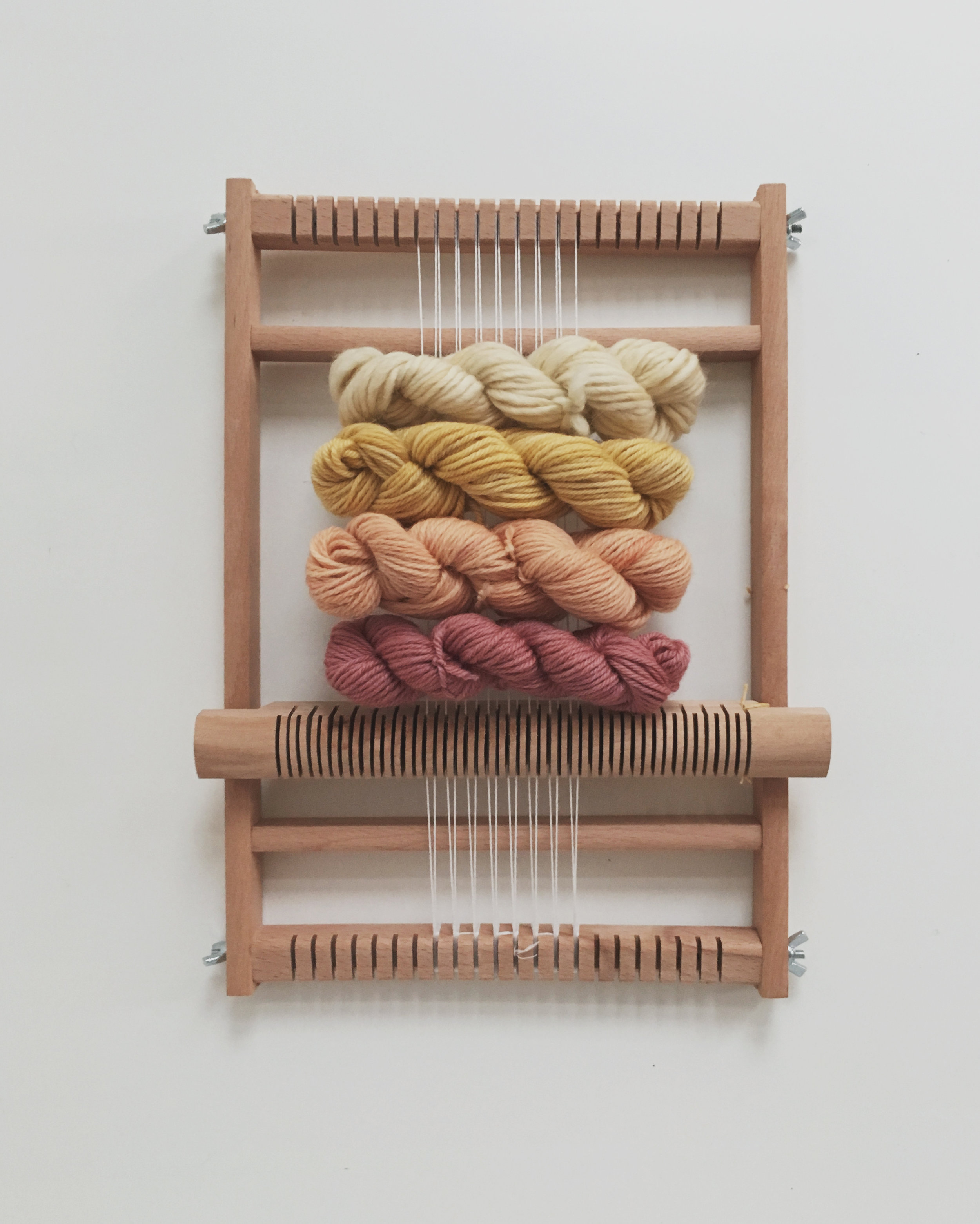 The best weaving sets for beginners are now live - loom and plant dyed yarn