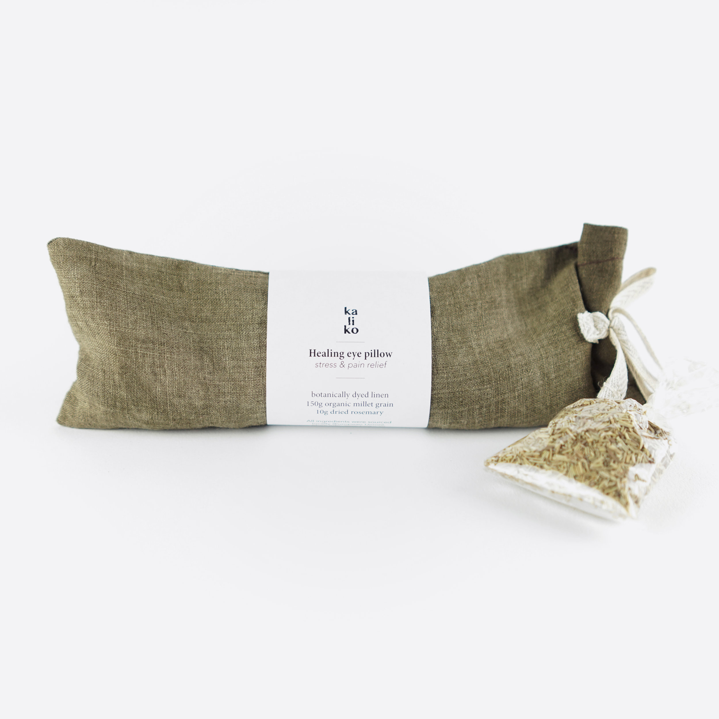 Aromatherapy plant dyed eye pillows by  Kaliko