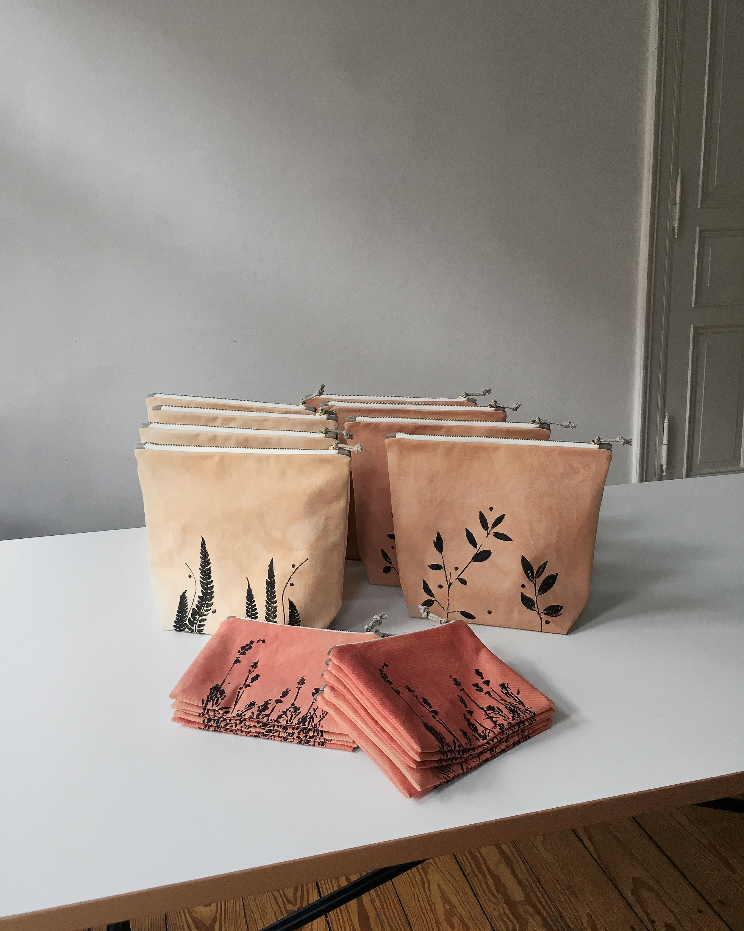 These plant dyed sustainable bags are soon available in Australia #dyed #plantdyed #deying #sustainable #bag #pouch