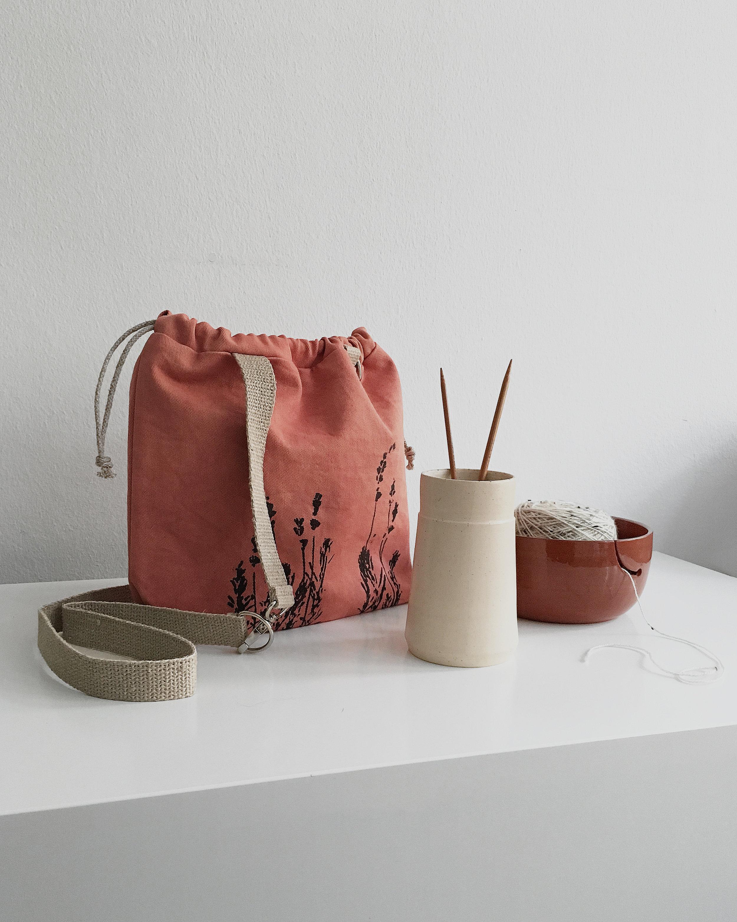 Knitting swag - handmade textiles and ceramics for mindful knitters #knitting #needlevase #ceramics #handmade