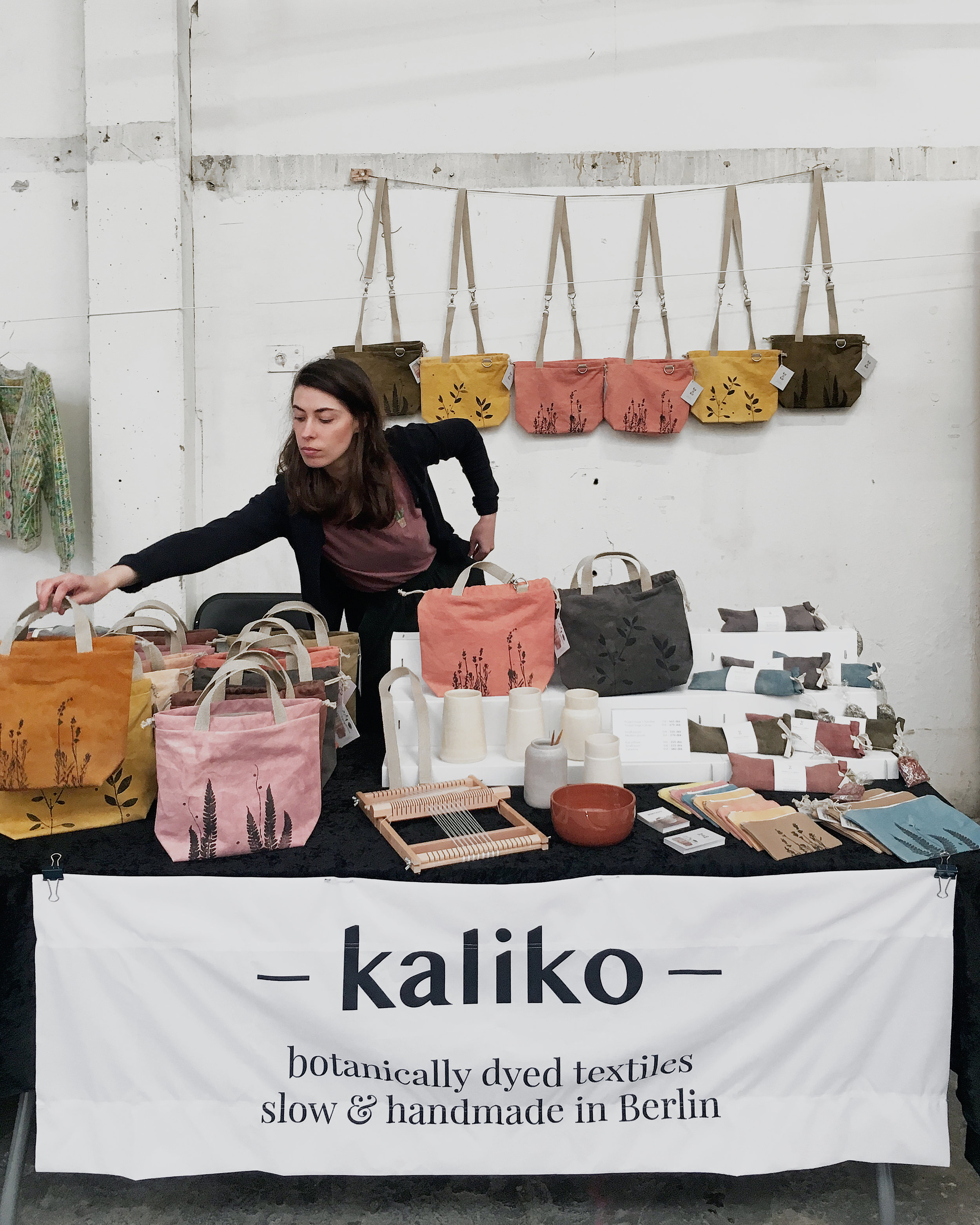 Kaliko botanical textiles at a craft fair in Roskilde, Denmark #handmade #business #craftfair #textiles