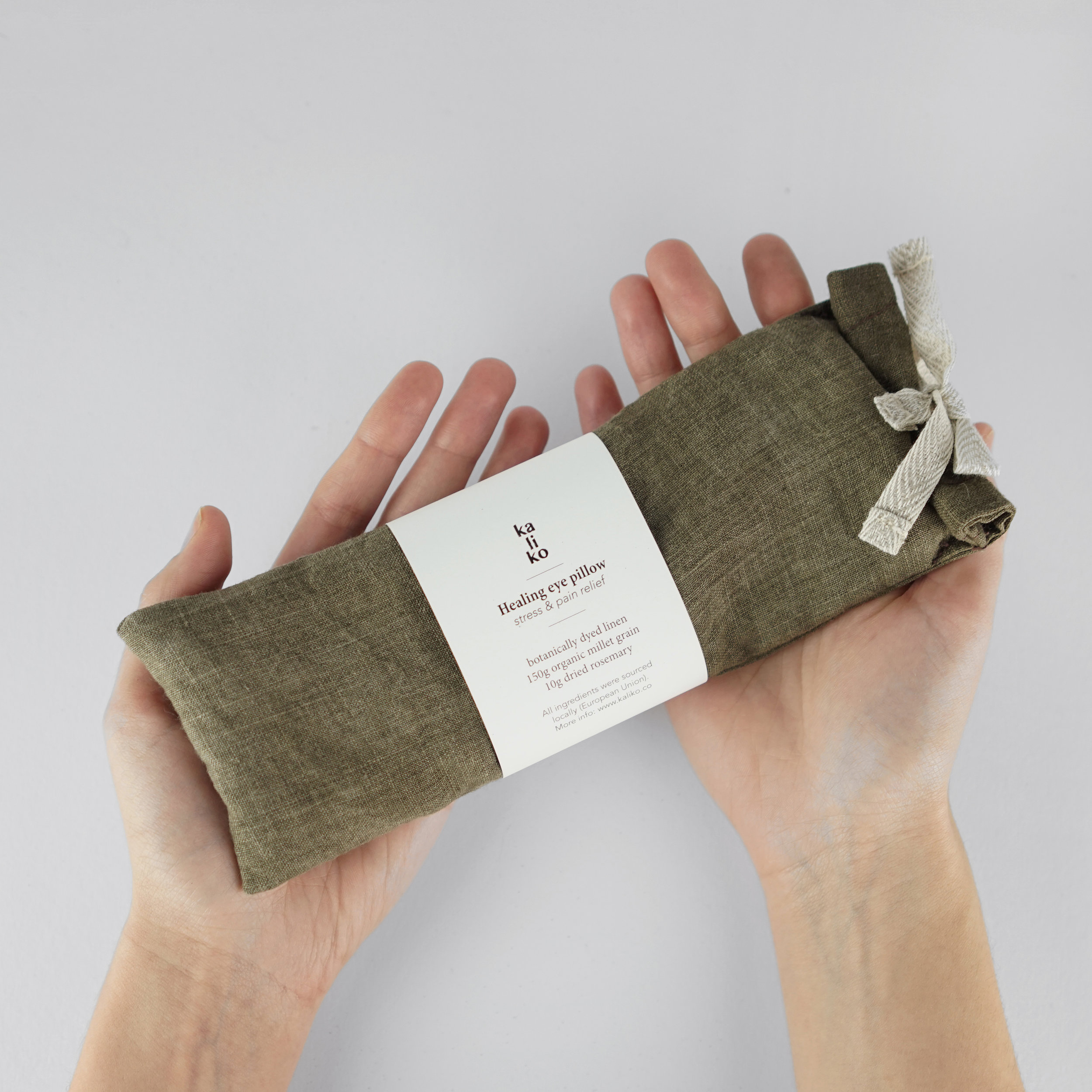 The Etsies - I nominate plant dyed eye pillows filled with grains and herbs!