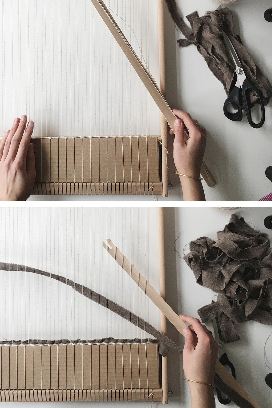 How To Weave A Rag Rug On Frame Loom