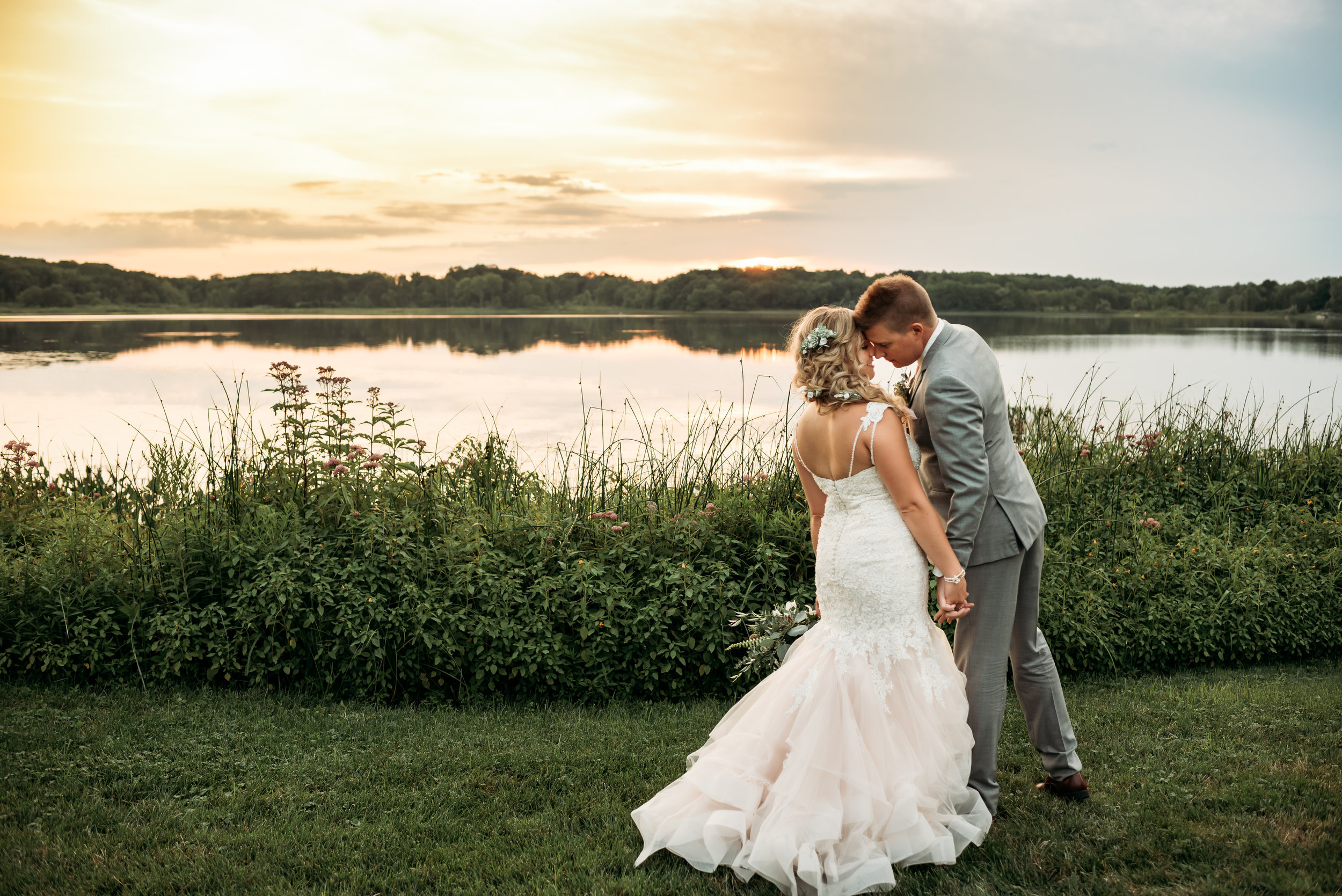 Waldenwoods Hartland Michigan Wedding Photographer | Lake Tent Wedding
