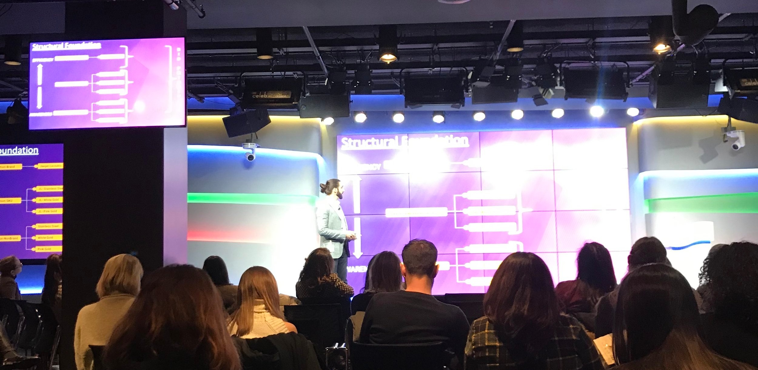 Adrian Padron, Director of Biddable Media, on stage at Google on January 31st, 2019