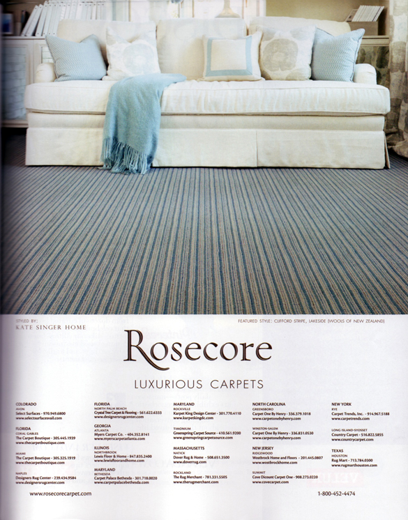 Veranda  Magazine - Rosecore Ad - Room styled by Kate Singer Home