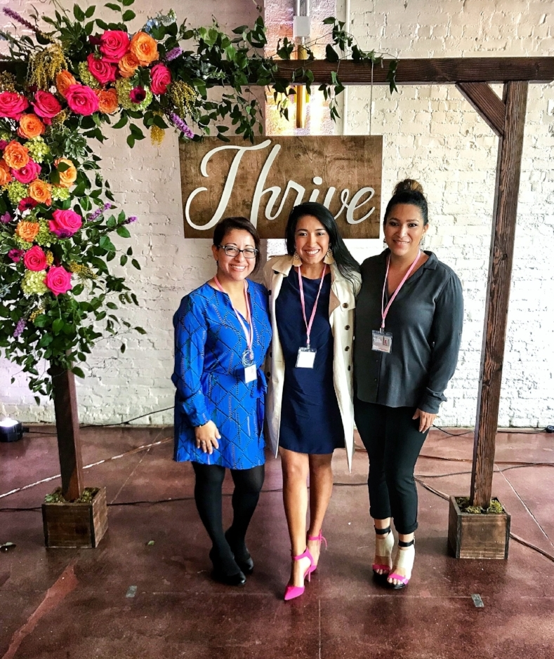 With co-founder of  Houston Latina Bloggers ,  Connie Gomez  (left) and founder of Lady Boss Tribe,  Evelin Martinez .