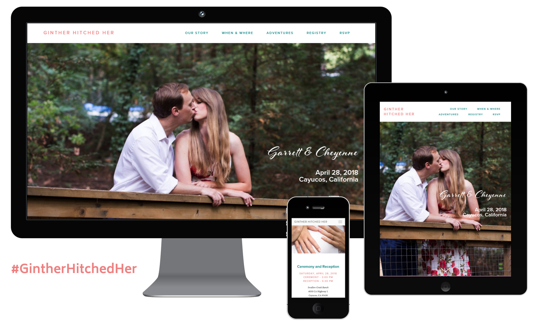 Ginther Hitched Her Wedding Website