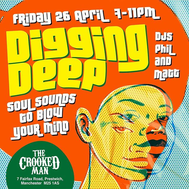 Digging Deep///April 26///7 til 11/// with @cellarfullofsoul #prestwich #manchester #bury #soulmusic #livemusic