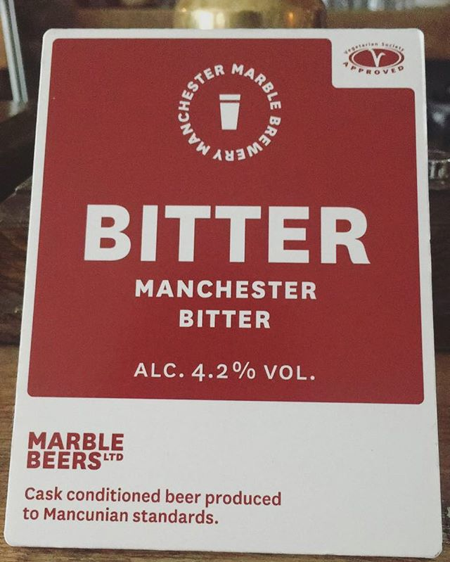 @marblebrewers BITTER MANCHESTER BITTER. It's marble. It's a bitter. What more can we say? Get a pint while you can. #beer #bitter #manchester #prestwich #bury #realale #craftbeer