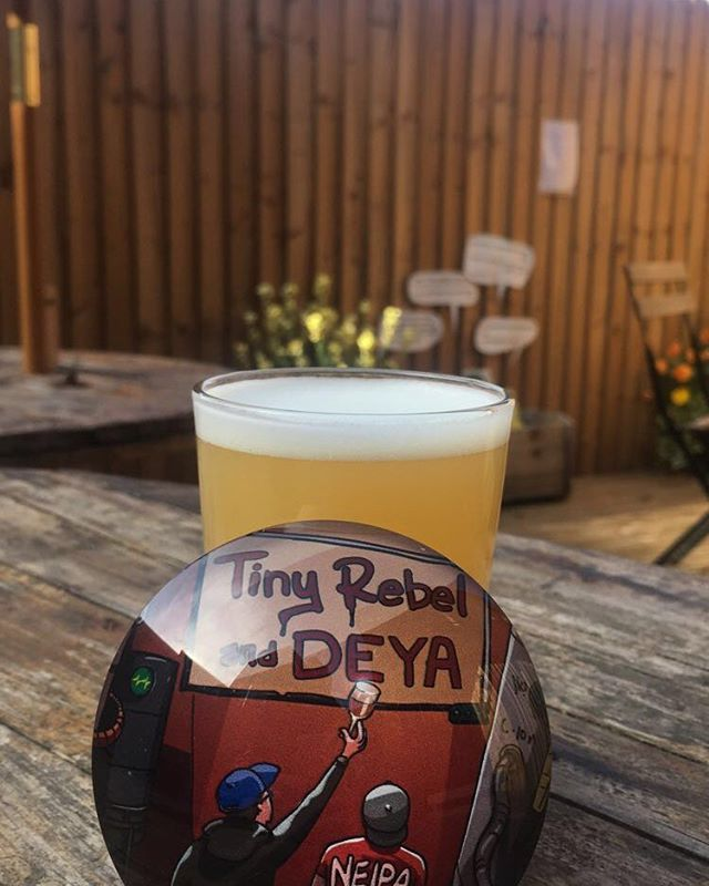 More goodness from @tinyrebelbrewco and @deyabrwery from TINY REBEL collaboration celebrating 7 years! Perfect for suppin' in the sun. ☀️ #neipa #ipa #tinyrebel #manchester #prestwich #bury #beer