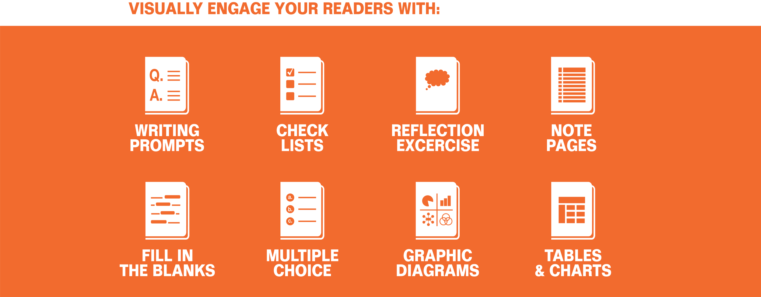 do the workbook visually engage your readers with