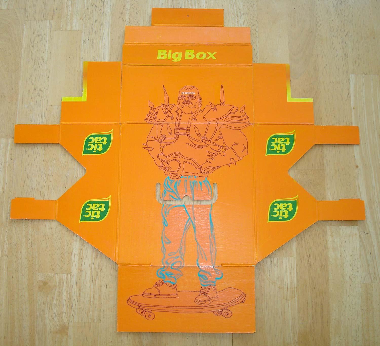 """Big Box 1"" Acrylic on found box"
