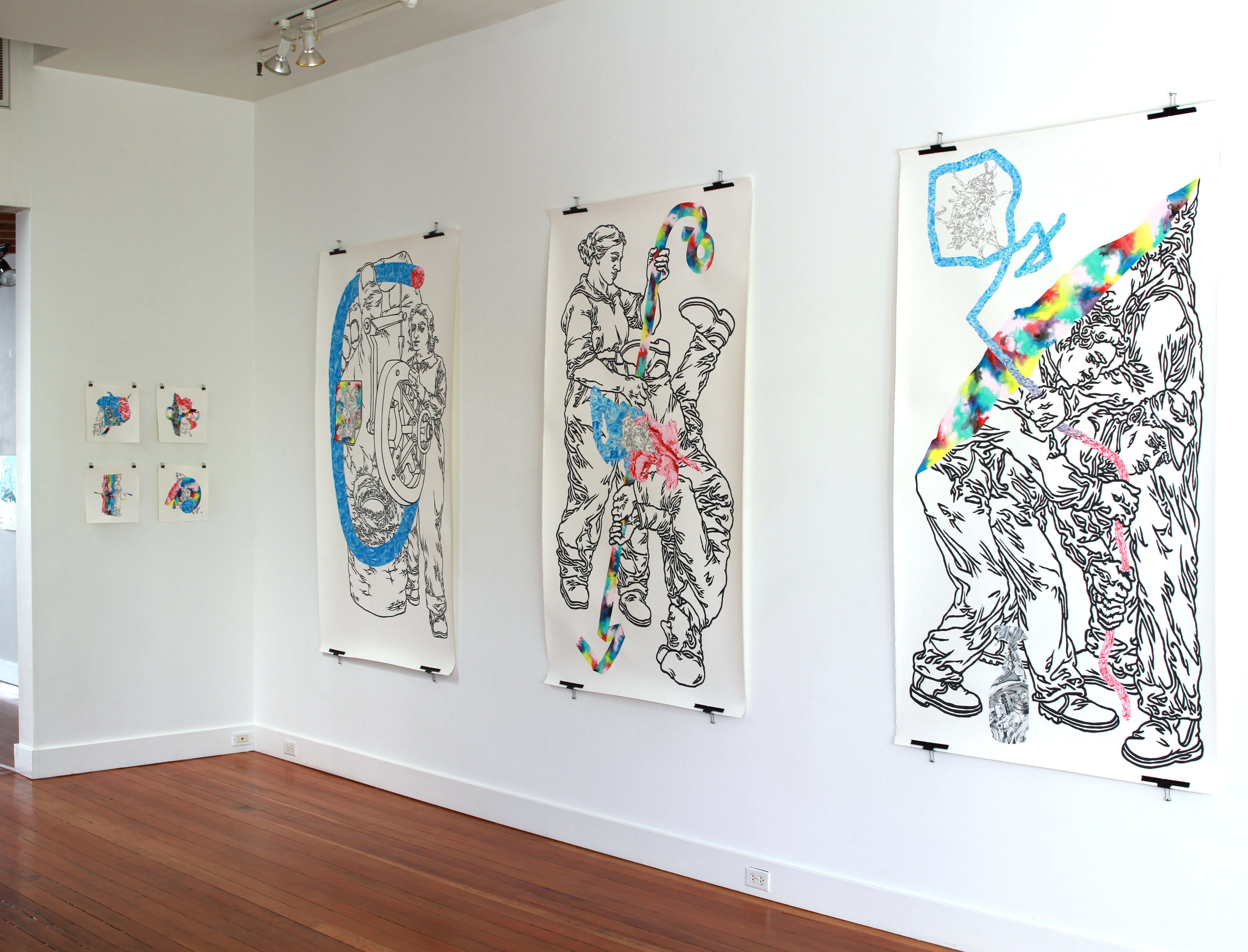 """""""LineWork"""" solo show, Ampersand Gallery"""