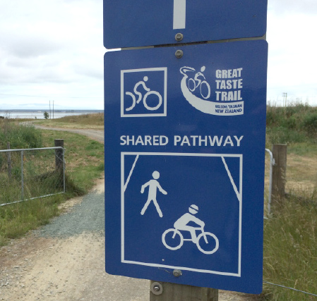Much of the trail is shared with walkers so please be aware of others using the trail at all times.