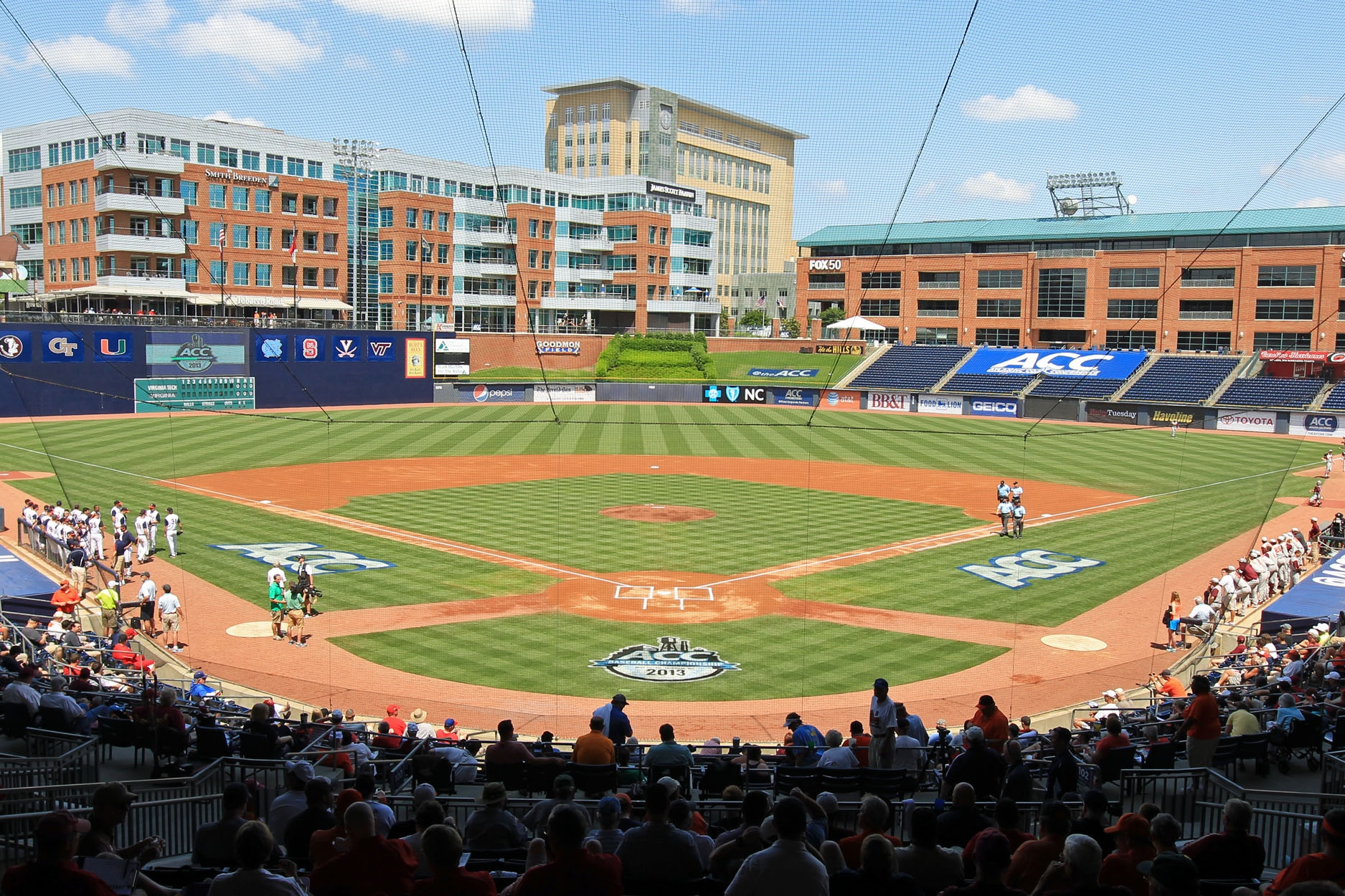 DURHAM BULLS ATHLETIC PARK - Iconified in cinematic history with Bull Durham (1988), this championship-winning minor league baseball team is one of Durham's crown jewels. And 2017 saw one of the Bulls' best seasons with their sweep of the minor league championships (including the Triple-A National Championship). Attending a Bulls game doesn't just promise good sports, but a fun, laid-back time that captures everything to love about attending a baseball game—even fireworks at the end of many home games.