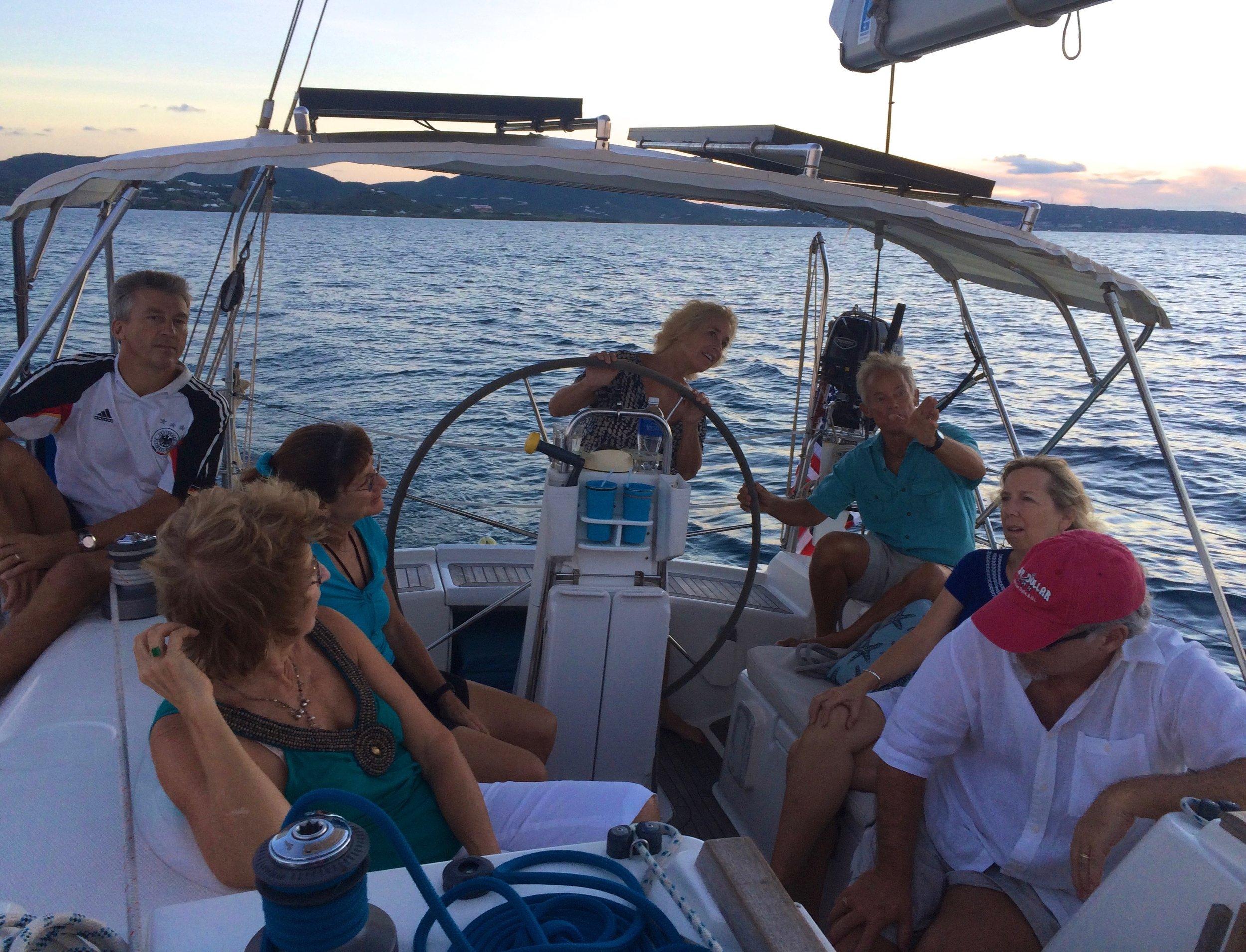Caribbean sunset sail