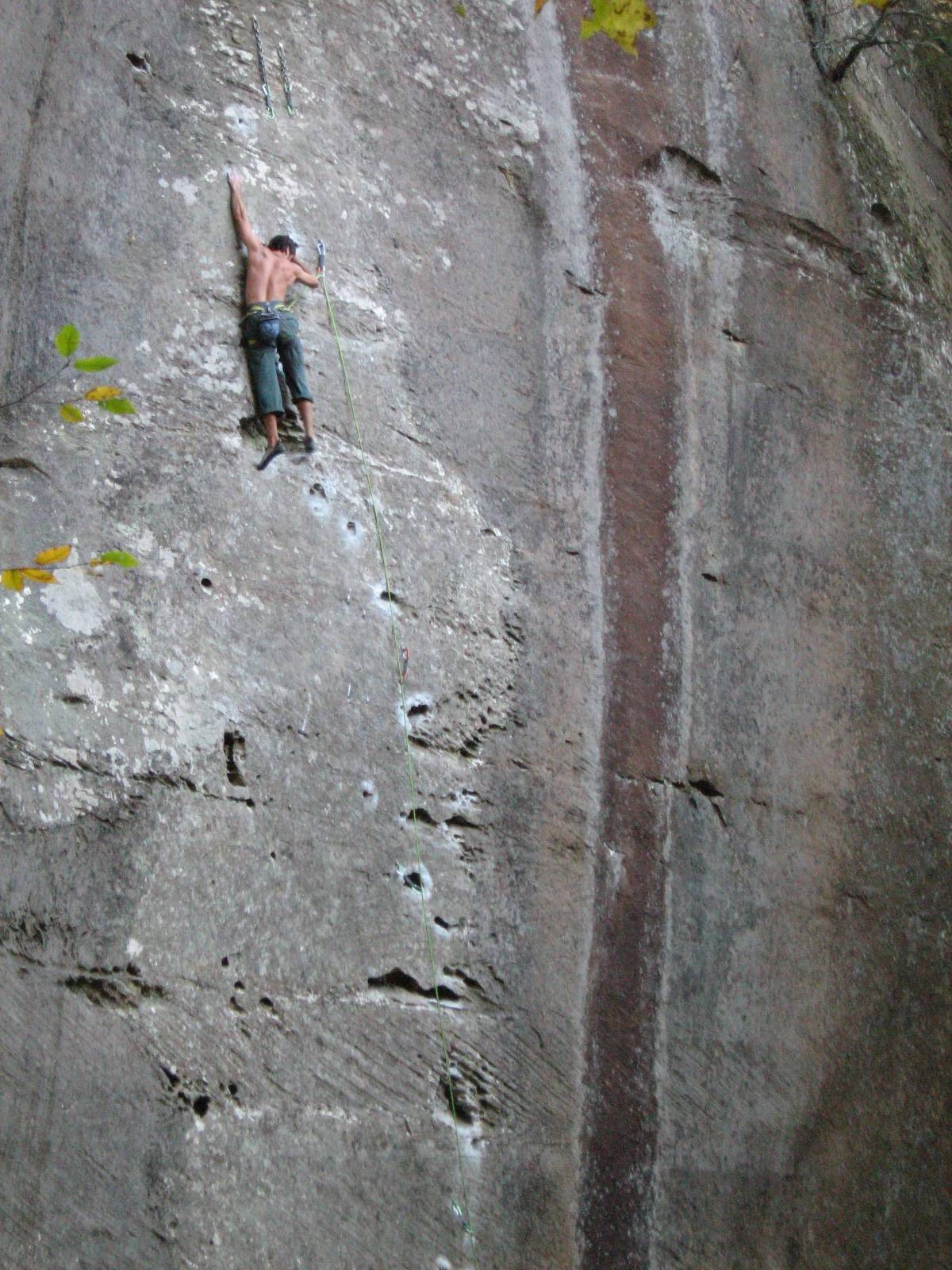 Eli Climbing at the Red in KY.