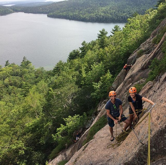 A beautiful day at the South Bubble with a family spanning three generations! It is great to see families spending time together doing cool things outside! #climbacadia #climbmaine #atlanticclimbingschool #rockclimbing # @acadianps