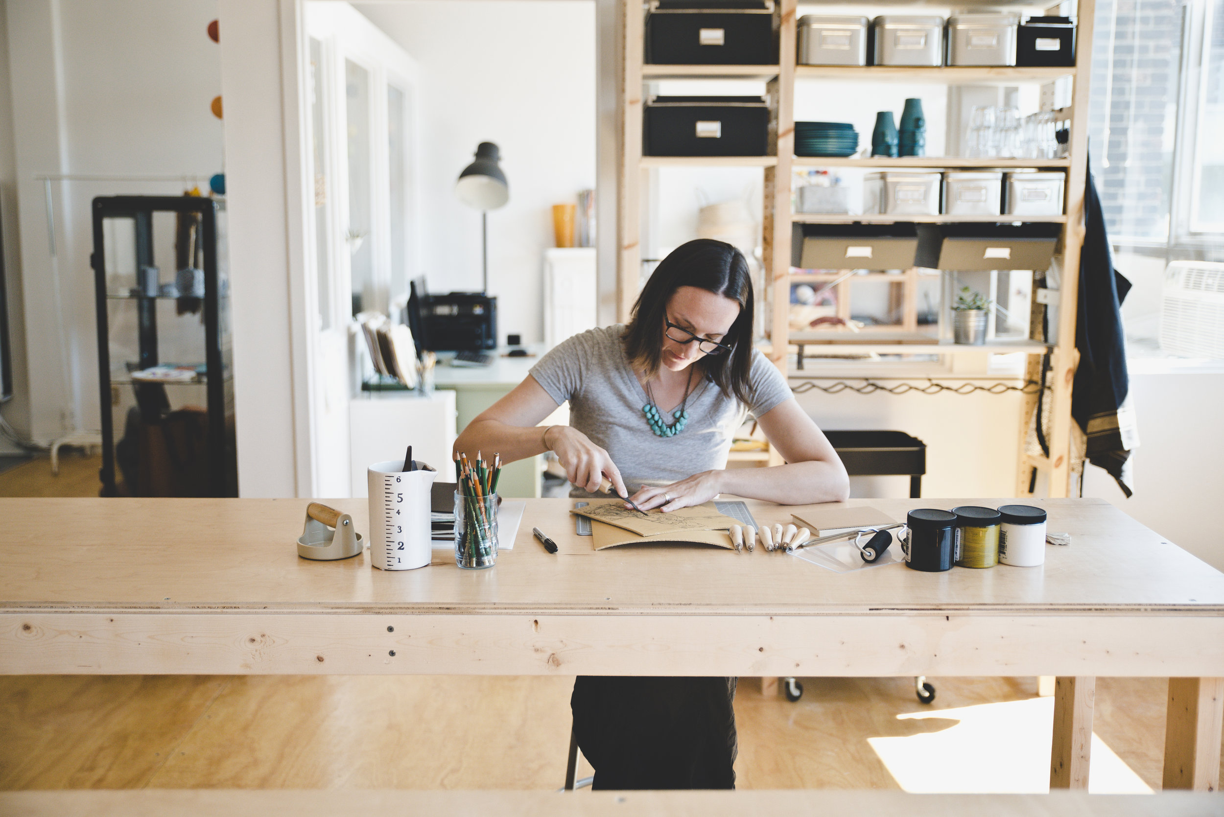 Sarah Nemecek - I founded Studio How-To in 2017, after making things, creating, and teaching friends and family for over 30 years.I am a maker, teacher, wife, and mother. I live in Cleveland Heights and love bringing creativity to my community.My mission is to share the joy of making things with people who are tired of being stressed and lacking a tangible way to get away from their daily grind.