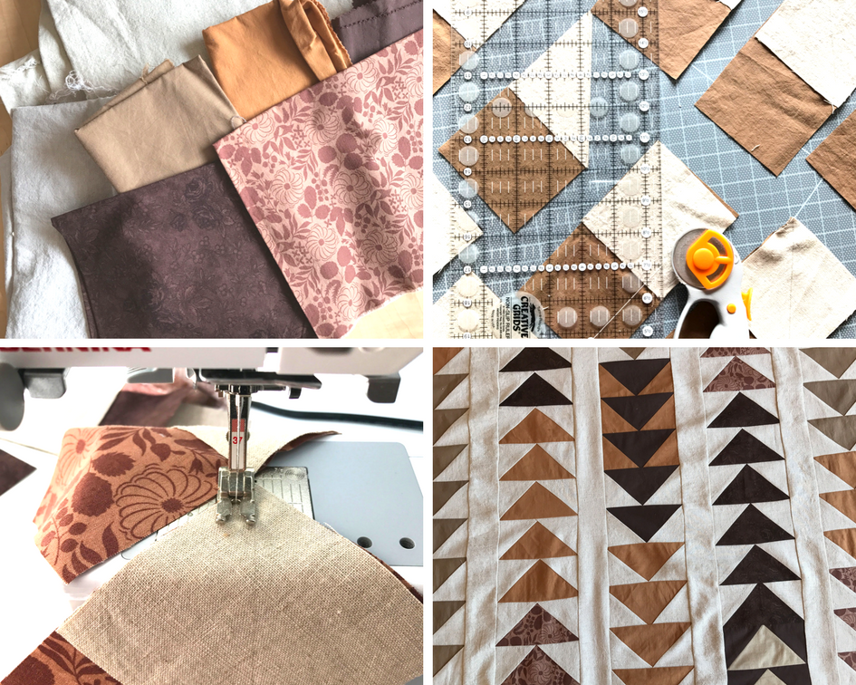 Making a Quilt: Plan, Cut, Sew, Assemble.