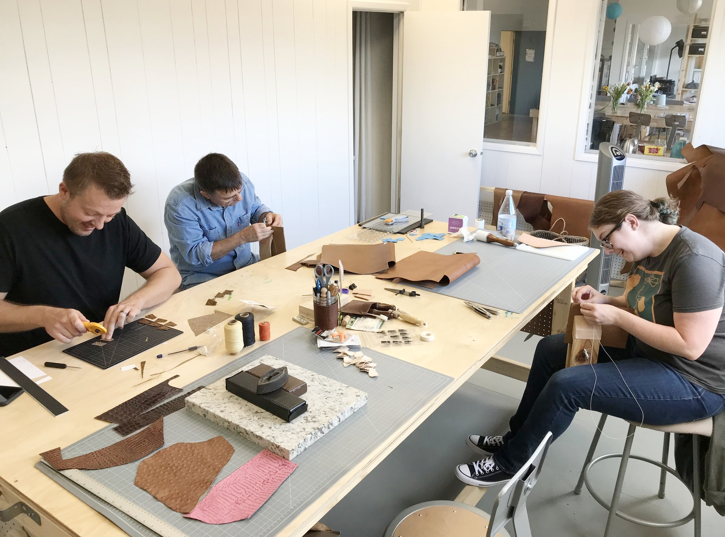 Leather Tote Class.JPG