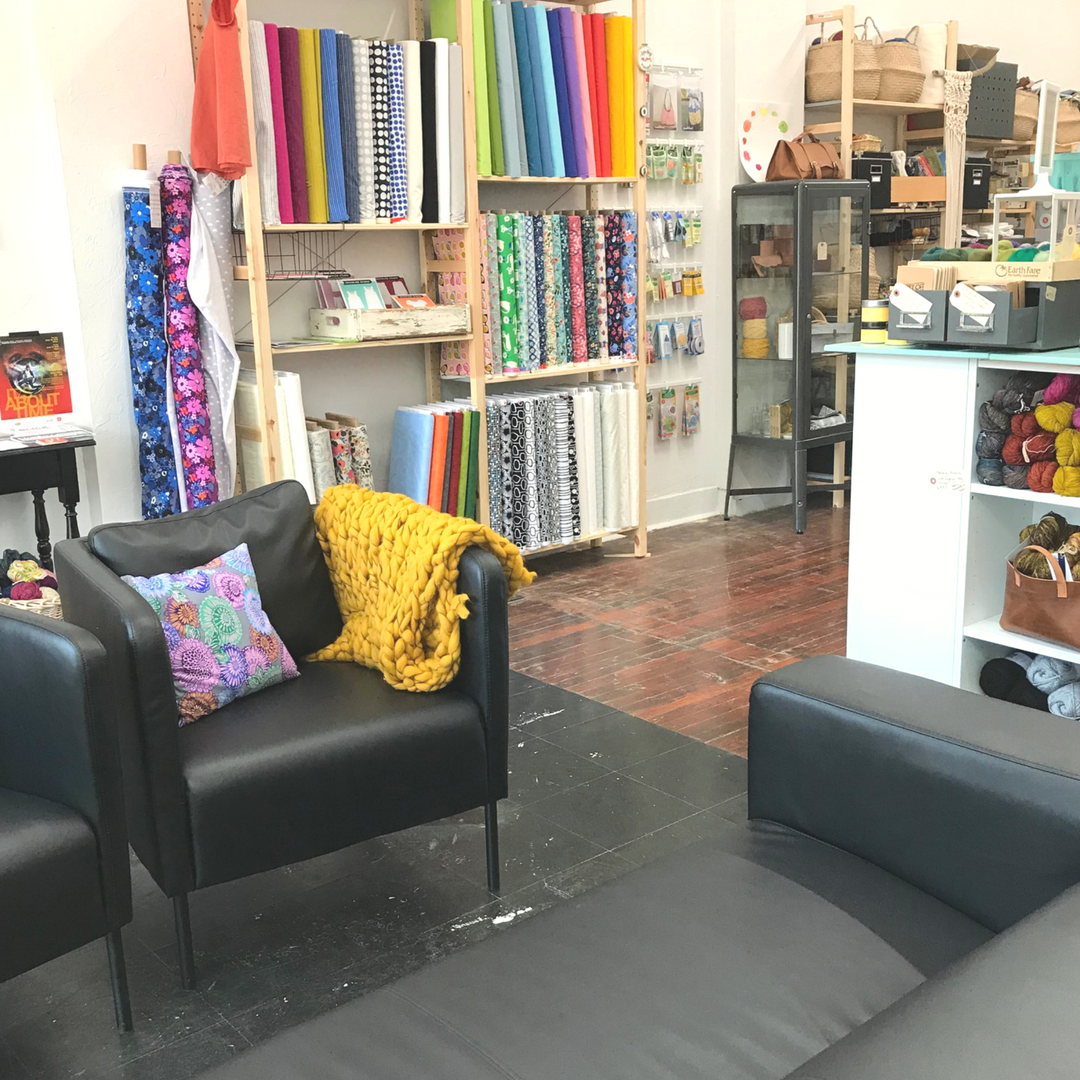 Come by the shop to chat about projects, find your fabric, or take a class! We love meeting makers and soon-to-be makers!