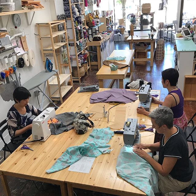 Last of the official sewing classes at the shop. These lovelies made some great skirts!