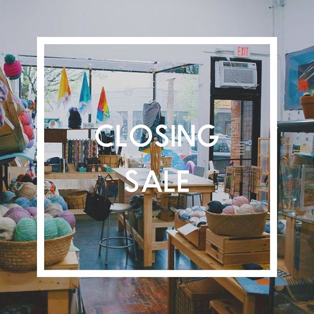 Our last day on Coventry is coming right up (next Friday, August 23). As moving day nears, I've decided I would love your help reducing load that needs to move with me.  Please come in and take 20% off almost everything in the shop - today through next Friday. Stock up on yarn, fabric and notions for your back to school and early holiday crafting needs.